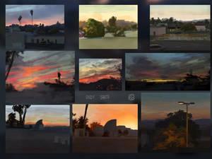 April Sunsets Dump