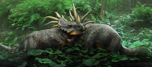 Styracosaurus closeup