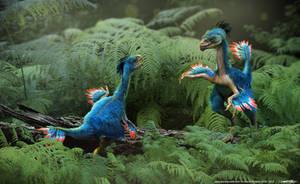 Caudipteryx original by damir-g-martin