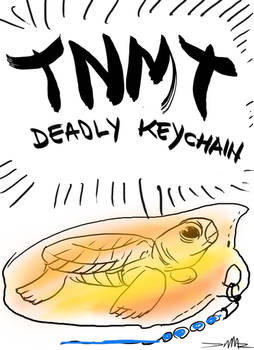 TNMT Deadly keychain title page