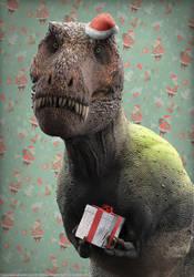 Christmasaurus Rex by damir-g-martin