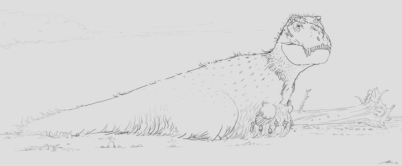 Tyrannosaurus Rex Babysitting by damir-g-martin