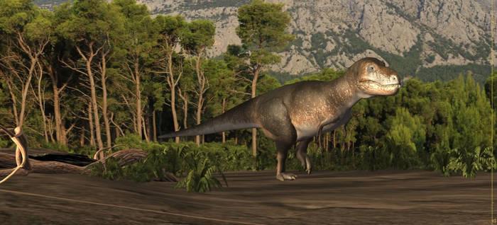 Animation wip with Tarbosaurus