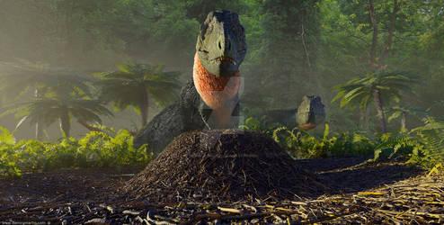 Tyrannosaurus nest
