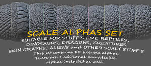10 tileable alphas set