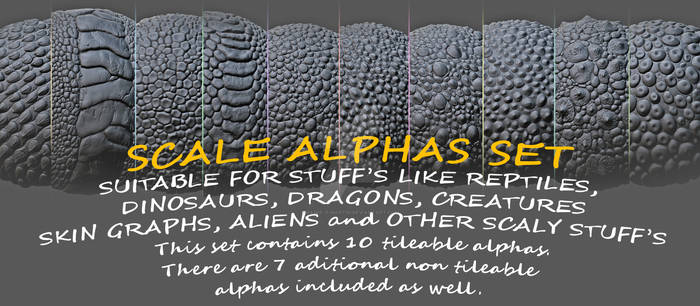 10 tileable alphas set