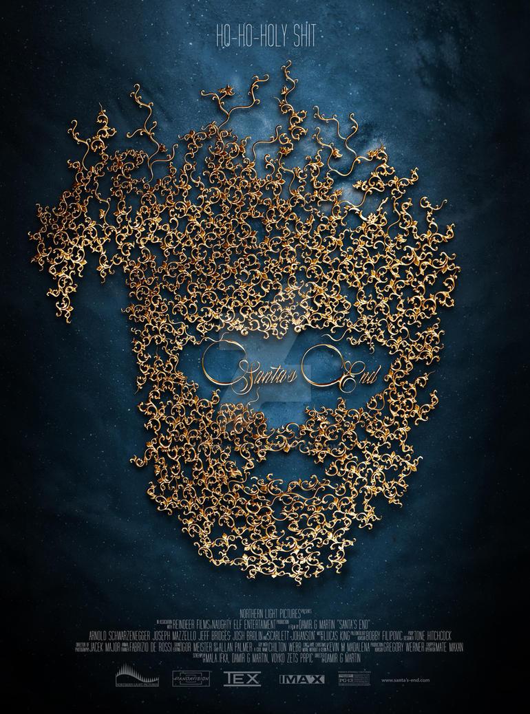 Poster design for Santa's End, a Christmas card sh by damir-g-martin