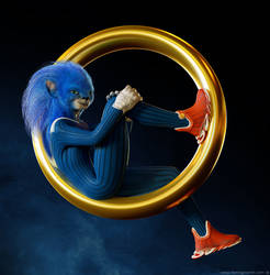 Realistic Sonic Movie Character Design Attempt