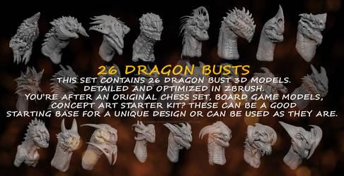 Dragon Busts 3d Models