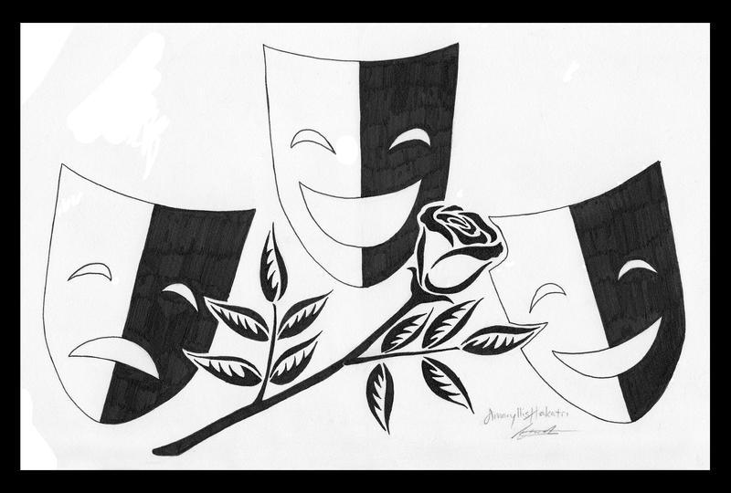 tattoo commiss theatre masks by amaryllishakatri on deviantart. Black Bedroom Furniture Sets. Home Design Ideas