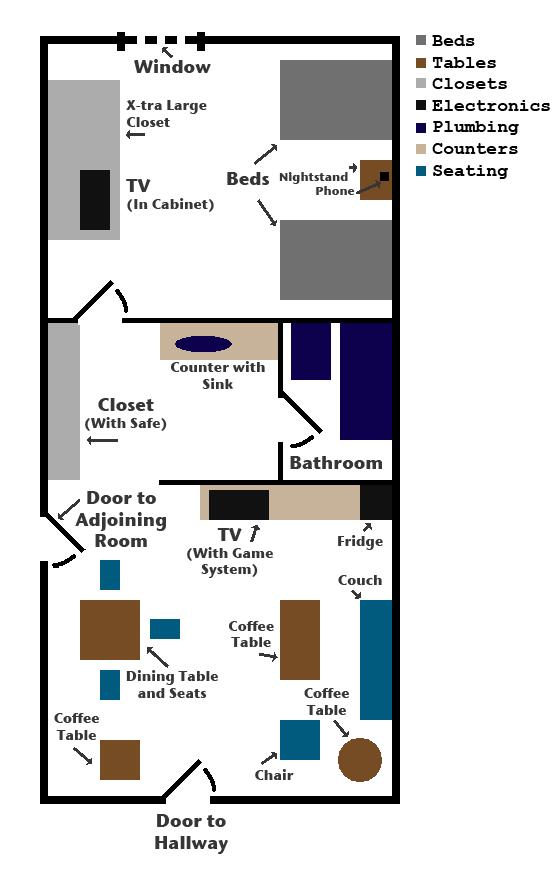 Hotel Room Floor Plan: Room Floor Plan By DarthGrievi On DeviantArt