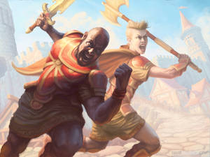 Warriors Charging