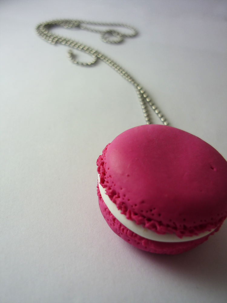 Pink french macaron by Elaiss-in-iceland