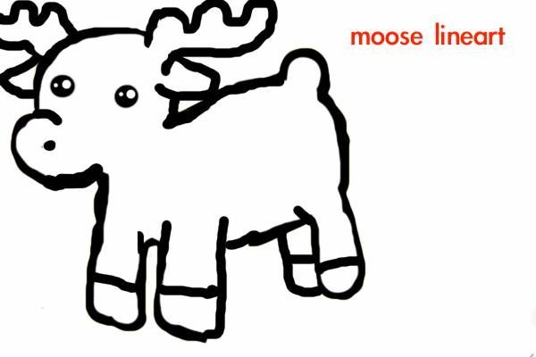 moose lineart by ThatAnimeDude