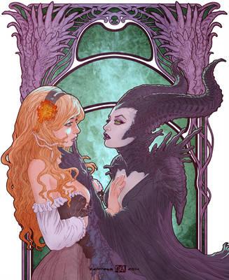Maleficent x Aurora Tribute - Under her spell by Kanthesis