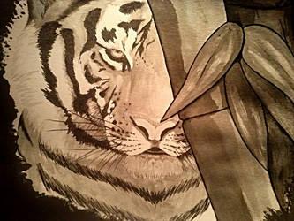 Ink Tiger by raquelilla