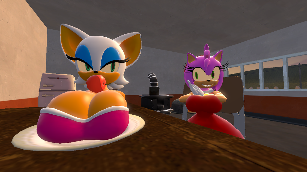 Sonic Vore Amy Rose: Amy's Busty Bat Dinner By TreeckoOfTime On DeviantArt
