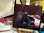 Jules Bianchi. Marussia 2014. Jabroc plank