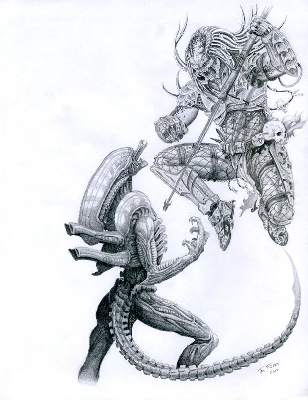 AvP - Flying Predator by BlkBullet23