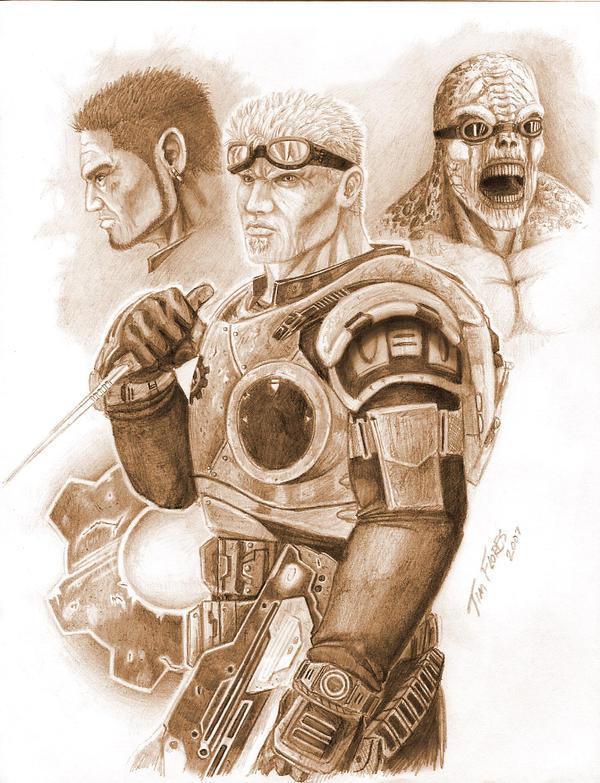 Gears of War - Characters by BlkBullet23
