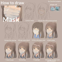 How to draw and color mask