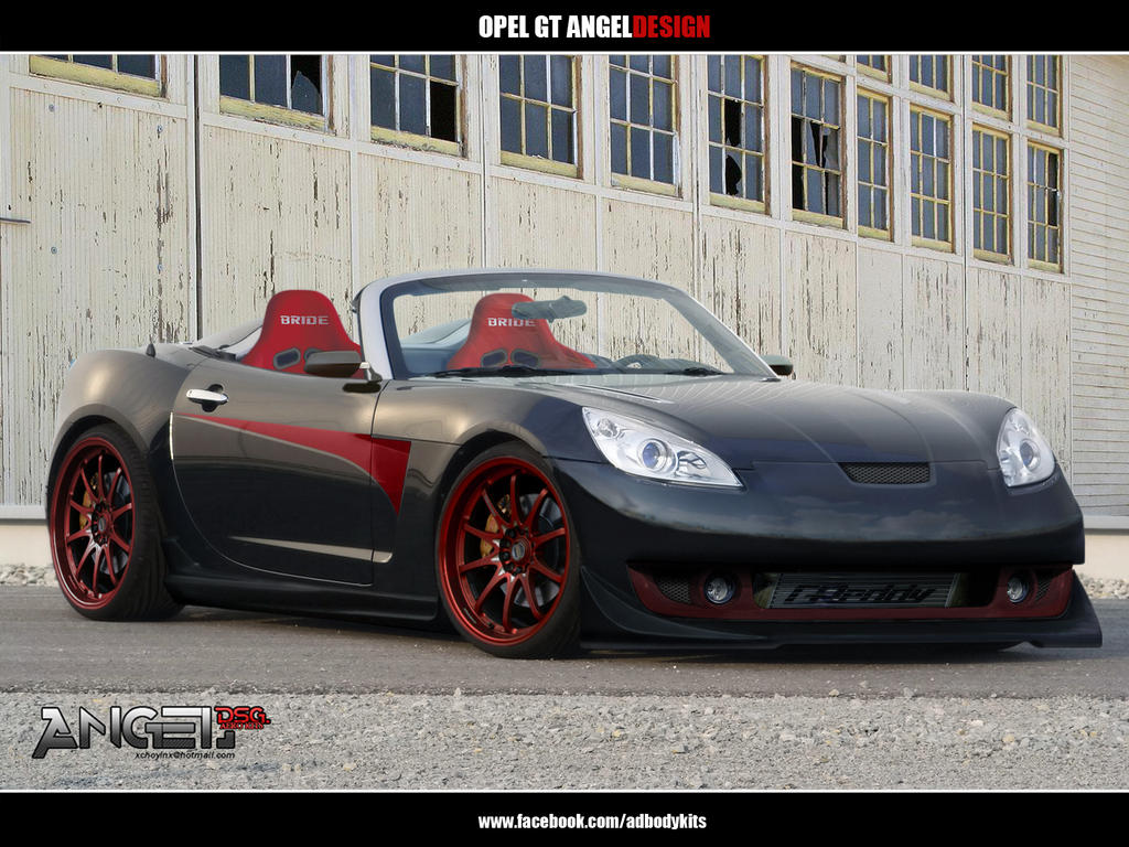 opel gt angeldesign front view by adbodykits on deviantart. Black Bedroom Furniture Sets. Home Design Ideas