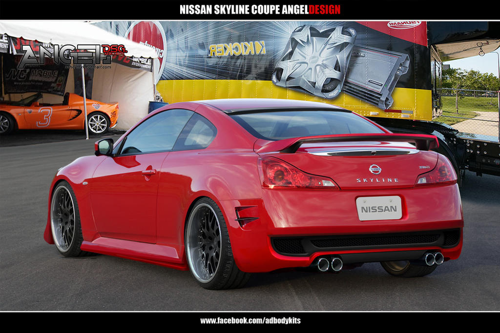 Nissan Skyline 370GT ANGELDESIGN rear view by ADBodykits ...