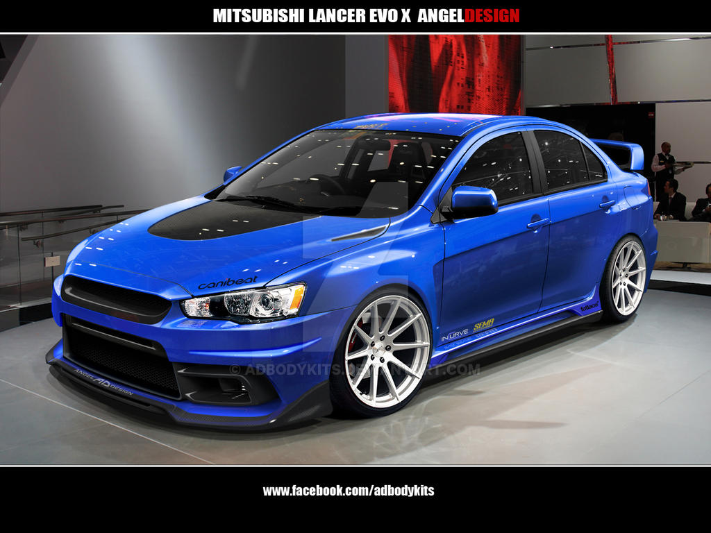 mitsubishi lancer evo x angeldesign front view by adbodykits