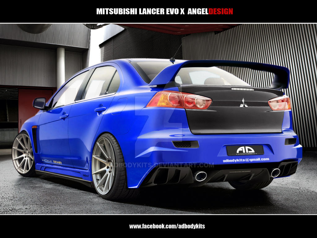 Mitsubishi Lancer Evo X ANGELDESIGN rear view by ADBodykits on DeviantArt