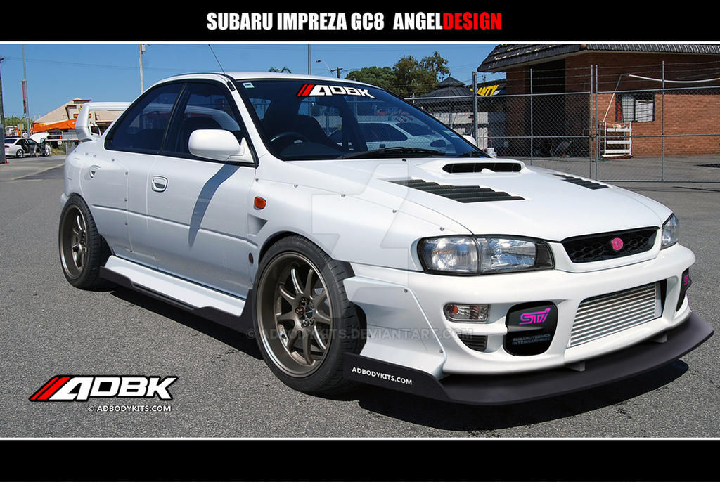 Subaru Impreza Gc8 Widebody By Adbodykits On Deviantart