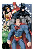 The Justice League of America by AndrewJHarmon
