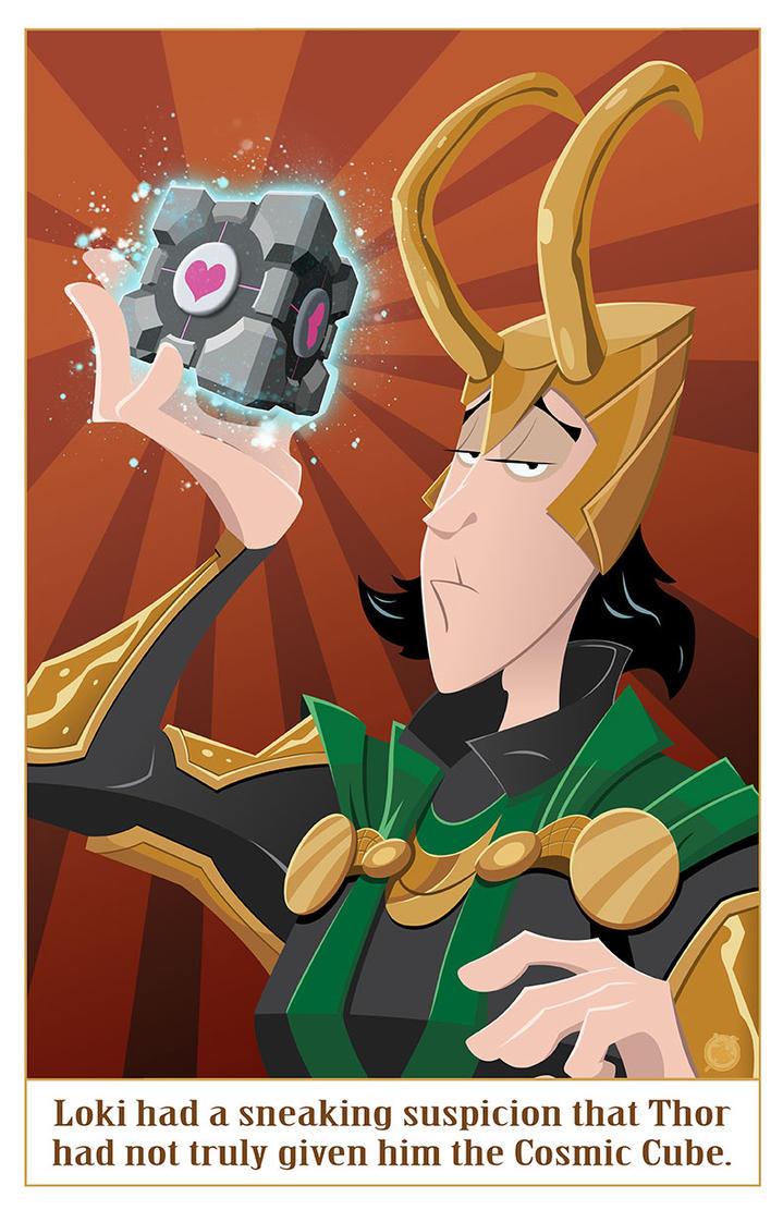 Loki Companion Cube Prank by AndrewJHarmon
