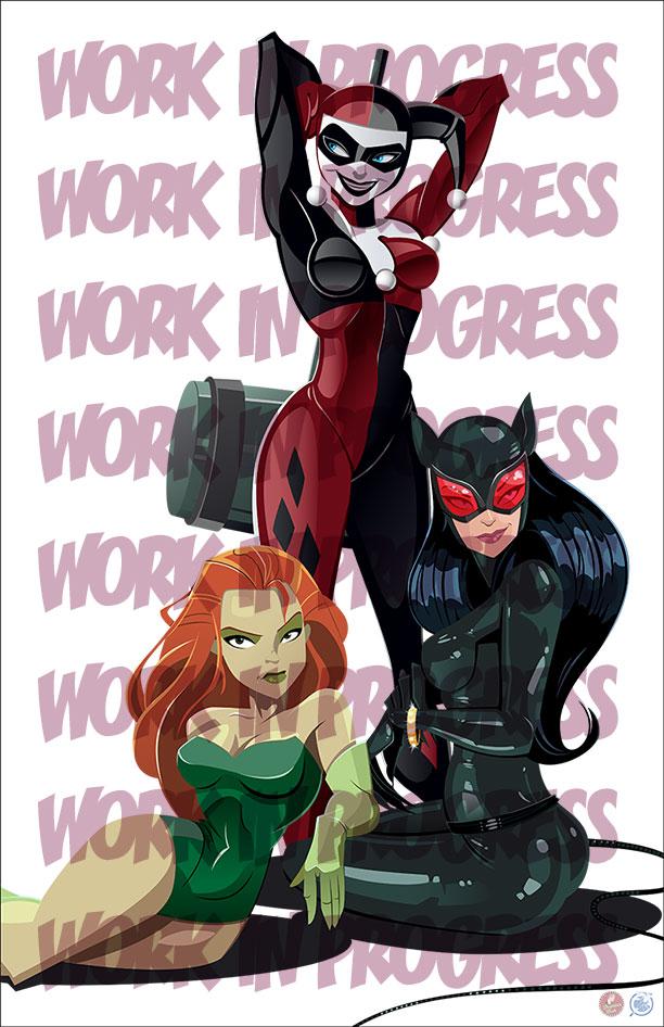 Gotham Girls WIP by AndrewJHarmon