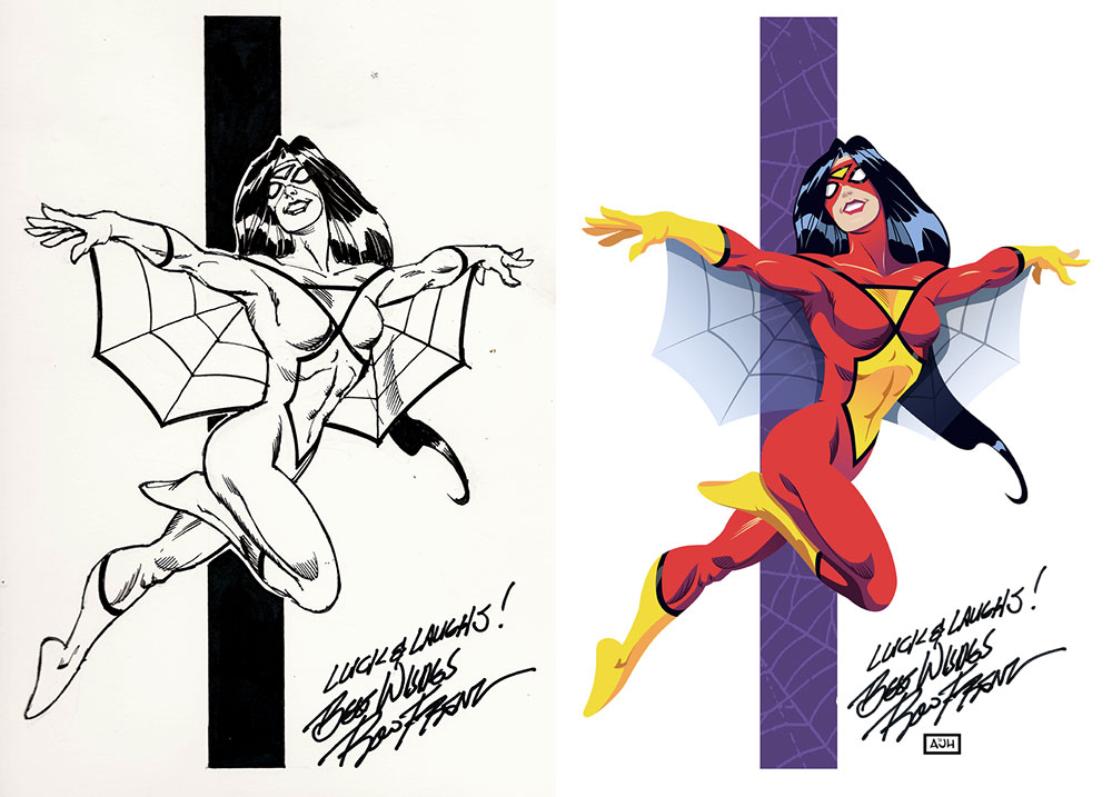 Spider-Woman Before and After by AndrewJHarmon
