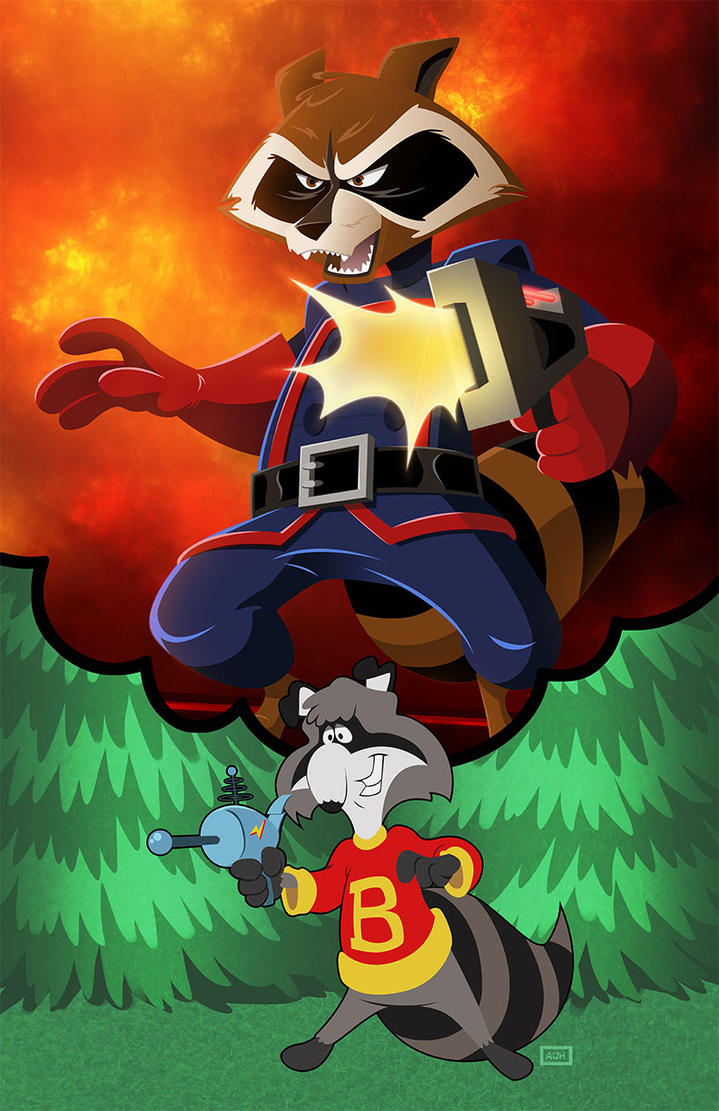 Bert Raccoon by AndrewJHarmon