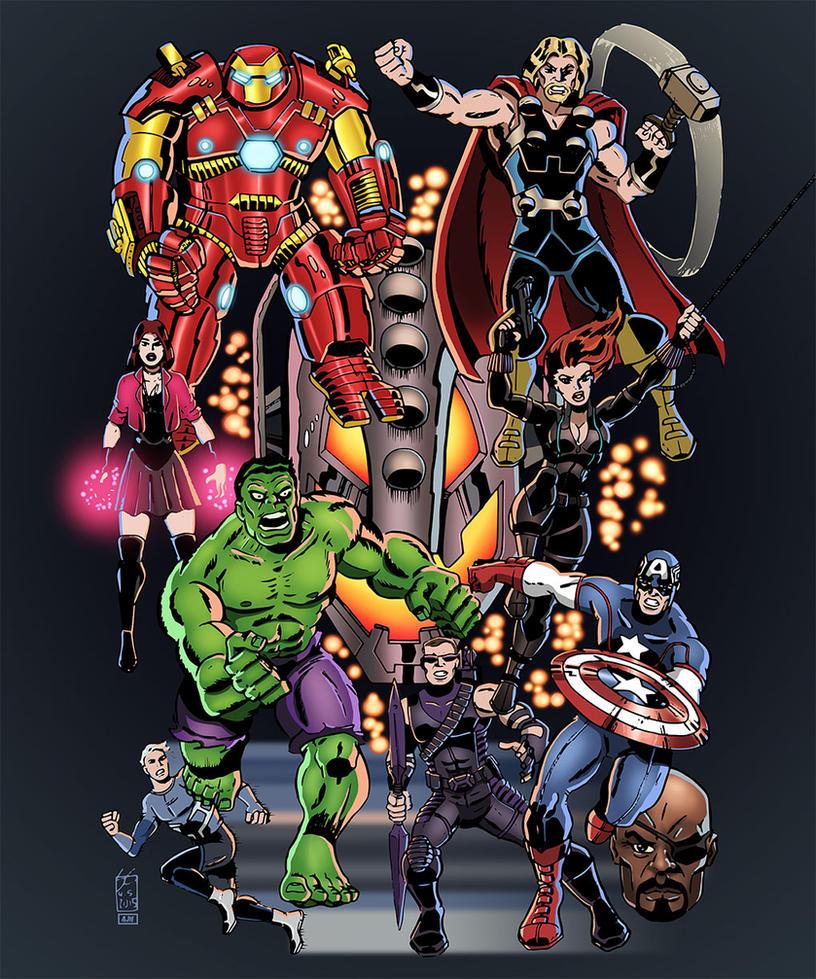 Avengers Assemble by AndrewJHarmon