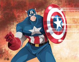 Captain America by AndrewJHarmon