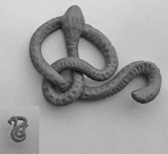 Snake brooch and button WIP by SalazarinaSlytherin