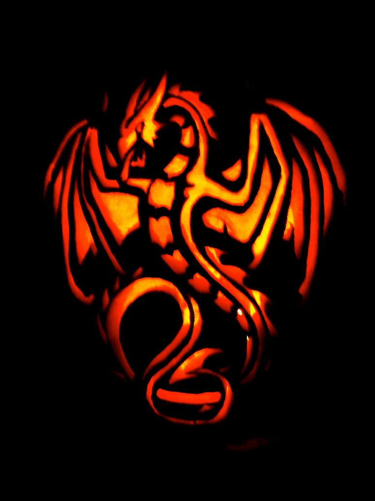 Dragon Pumpkin Carving Dragon Pumpkin by