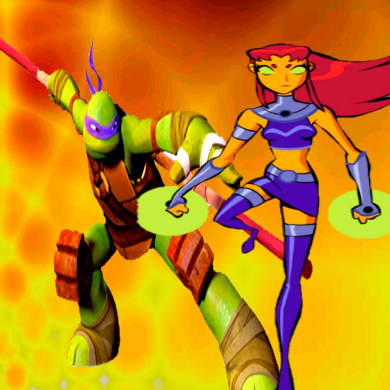donnie and starfire wallpaper by ninjaturtlefangirl on