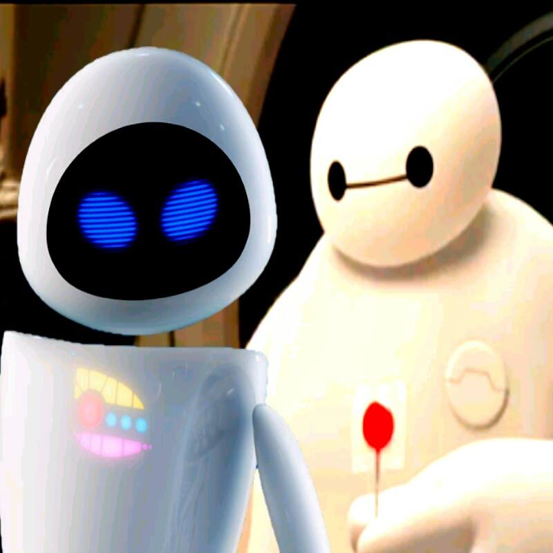 Baymax and EVE by NinjaTurtleFangirl