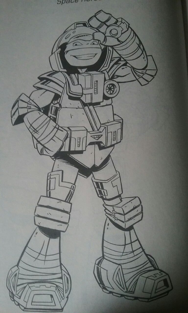 tmnt space leo coloring page by ninjaturtlefangirl on deviantart