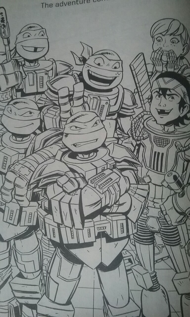 Tmnt Coloring Pages April : Tmnt turtles april and casey coloring page by