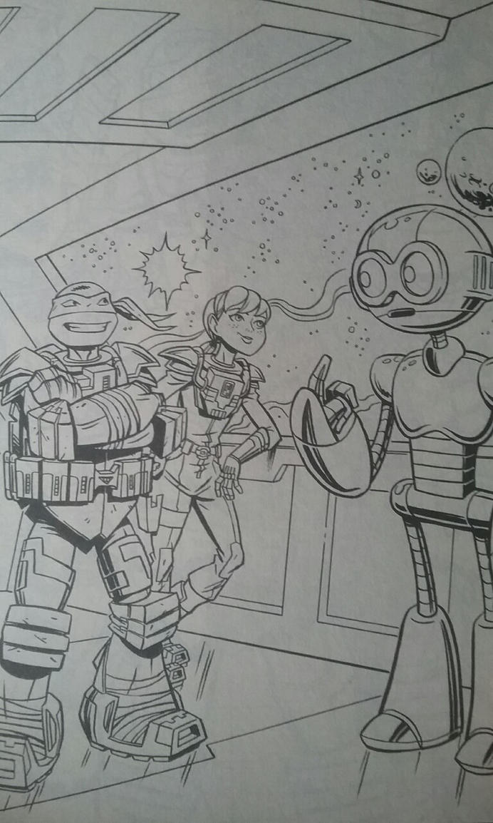 Tmnt Coloring Pages April : Tmnt leo april and honeycutt coloring page by