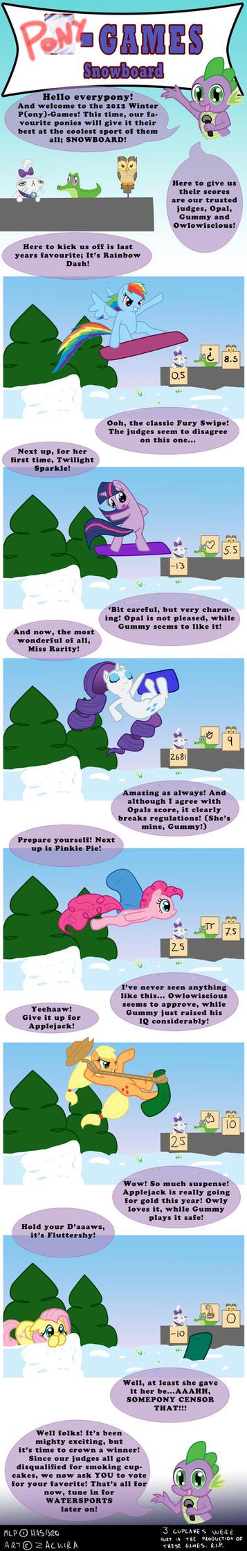Pony Winter Games: SNOWBOARD by Zackira