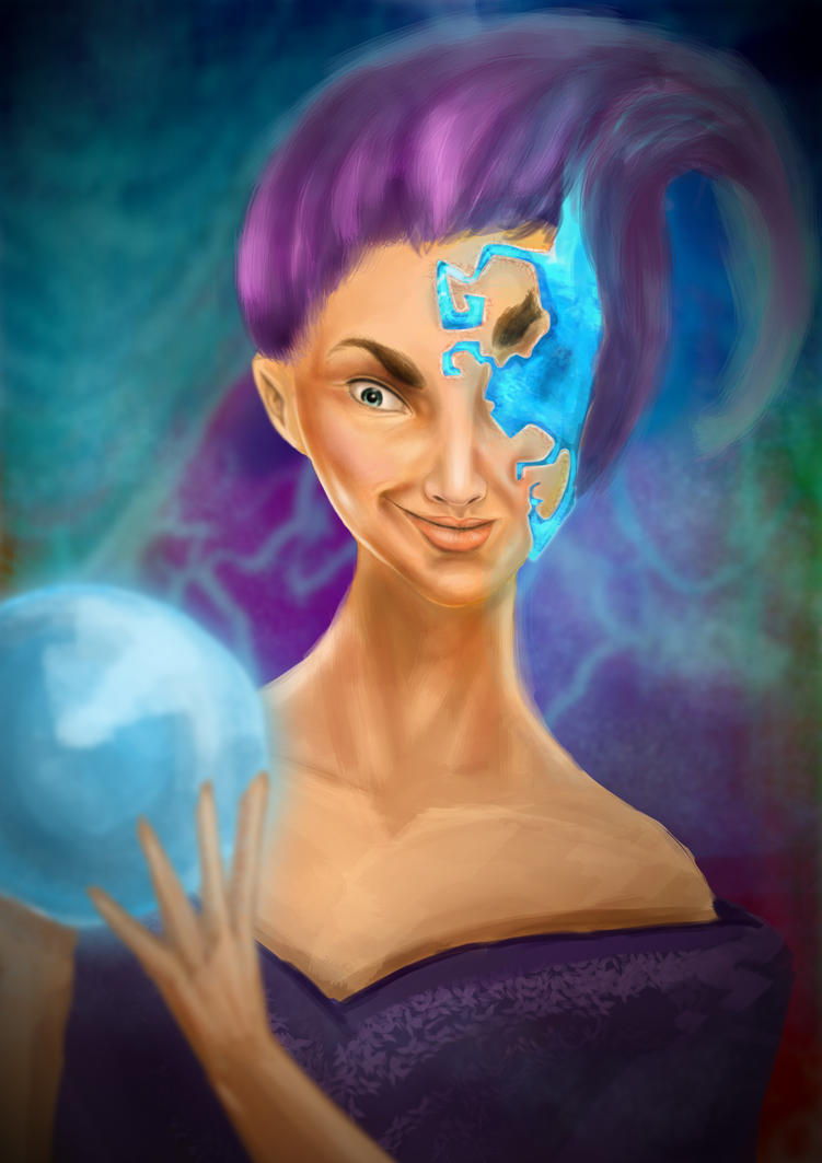 Mage Quick Painting by Zackira