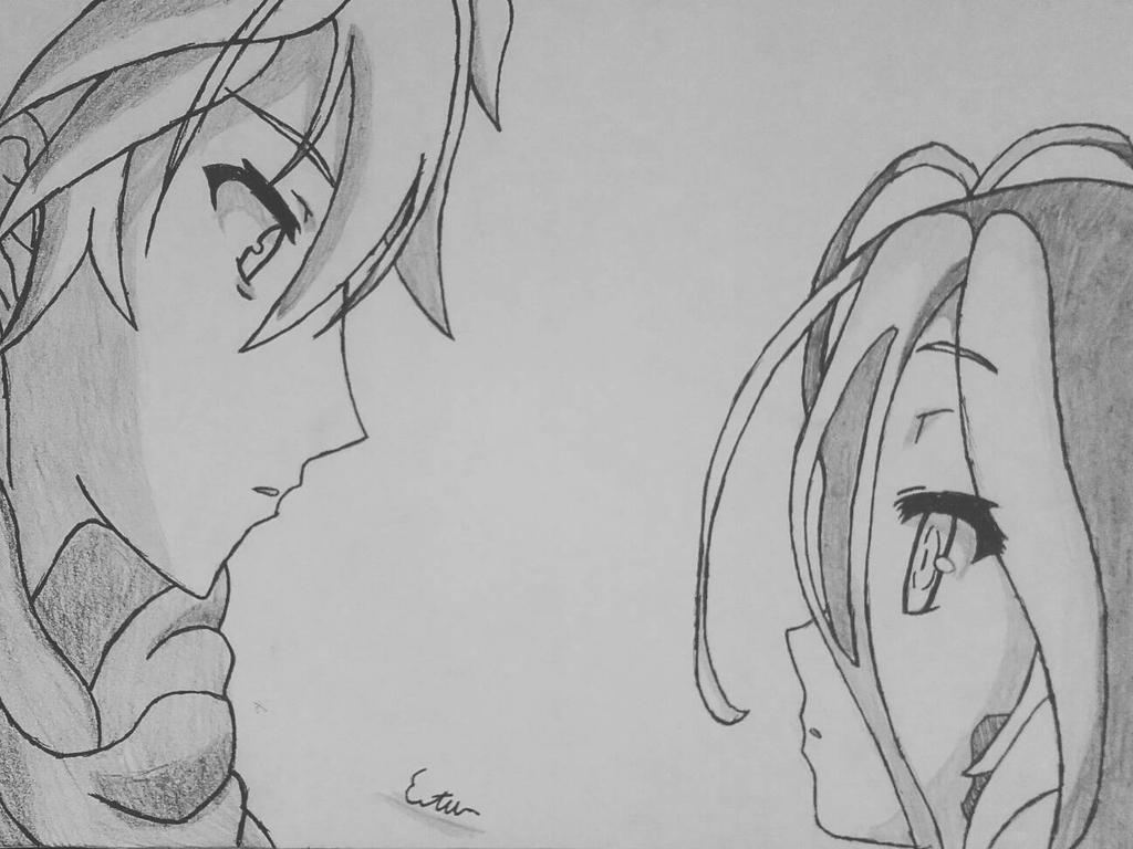Line Art Zero : Riku and shiva no game life zero by drawdill on deviantart