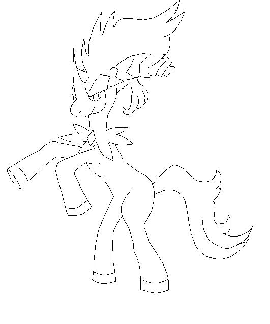 pokemon keldeo coloring pages - photo#8