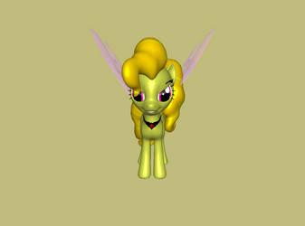 3D Pony Adagio Dazzle by kasumaky