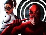 Daredevil and Lady Bullseye